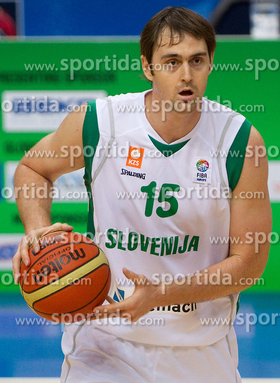 Erazem Lorbek of Slovenia during basketball game between National basketball teams of Slovenia and Greece at FIBA Europe Eurobasket Lithuania 2011, on September 8, 2011, in Siemens Arena,  Vilnius, Lithuania. Greece defeated Slovenia 69-60.  (Photo by Vid Ponikvar / Sportida)