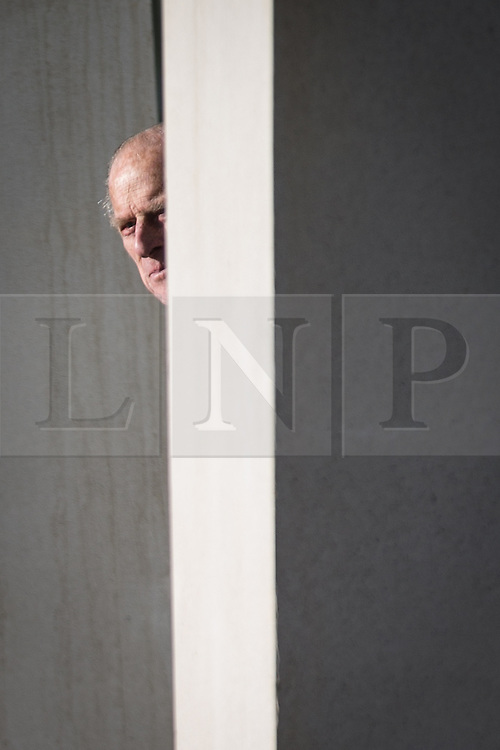 © Licensed to London News Pictures . 14/11/2013 . Manchester , UK .  Prince Philip the Duke of Edinburgh leaves . Queen Elizabeth II and the Duke of Edinburgh visit the Coop building at 1 Angel Square , Manchester , this morning ( 14th November 2013 ) . Photo credit : Joel Goodman/LNP