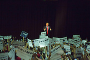 Republican presidential candidate Donald Trump brought his campaign to the Lane Events Center in Eugene on Friday, May 6, 2016. Photo by Randy L. Rasmussen