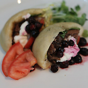 American Lamb Jam Seattle. Shank entry from Bell Harbor International Conference Center Chef Jay Bartleson, with Pacific NW native lamb shank gyro, paired with Buried Cane Syrah 2007.