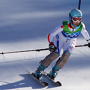Winter Olympics, Vancouver, 2010.Marie Marchand-Arvier, France, in action in the Alpine Skiing Ladies Super Combined competition at Whistler Creekside, Whistler, during the Vancouver Winter Olympics. 18th February 2010. Photo Tim Clayton