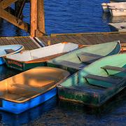 Row boats in Kittery Harbor