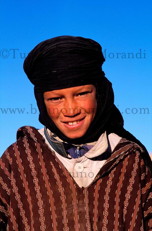 Maroc - Haut Atlas - Vallée du Dades - Vallée des roses - Jeune Berger