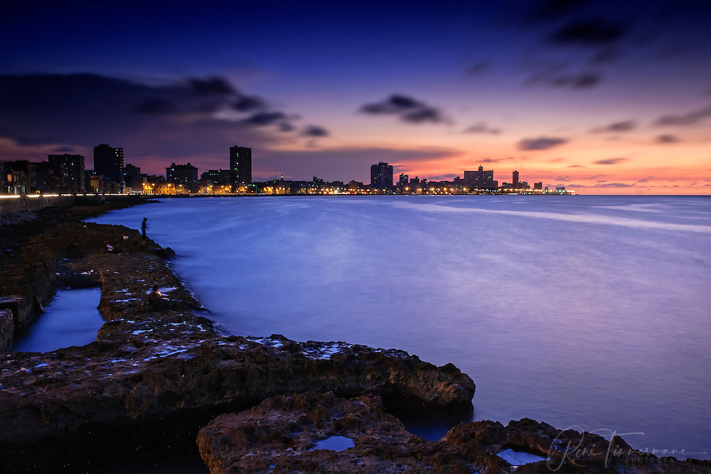 Sunset over the Malecón