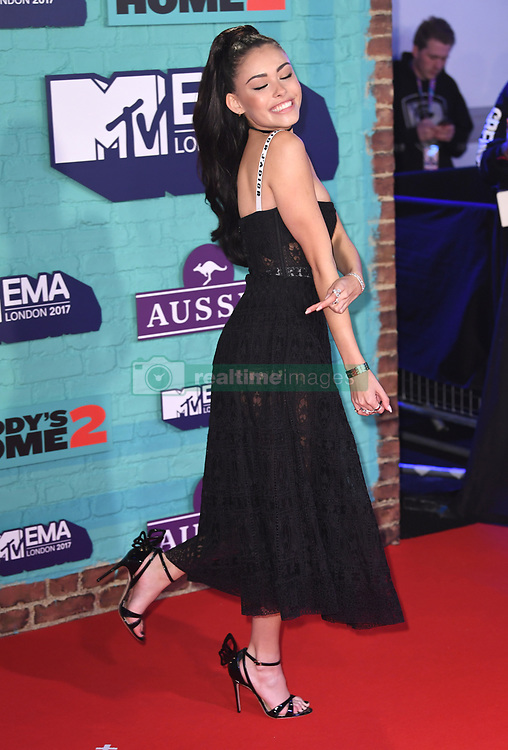 Madison Beer arriving at the MTV Europe Music Awards 2017 held at The SSE Arena, London. Photo credit should read: Doug Peters/EMPICS Entertainment