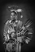 Alfredo Uentillie, Diné, northern traditional dancer from Low Mountain, Ariz.