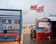 Merchandise trailer belonging to the Red Arrows, Britain's RAF aerobatic team on Weymouth seafront.