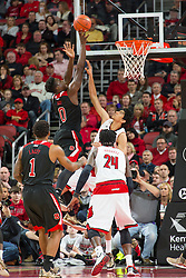 North Carolina State forward Abdul-Malik Abu. <br /> <br /> The University of Louisville hosted the North Carolina State, Saturday, Feb. 14, 2015 at the Yum Center in Louisville. <br /> <br /> Photo by Jonathan Palmer