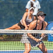 August 20, 2016, New Haven, Connecticut: <br /> Aryn Green and Ansley Speaks in action during a US Open National Playoffs match at the 2016 Connecticut Open at the Yale University Tennis Center on Saturday, August  20, 2016 in New Haven, Connecticut. <br /> (Photo by Billie Weiss/Connecticut Open)