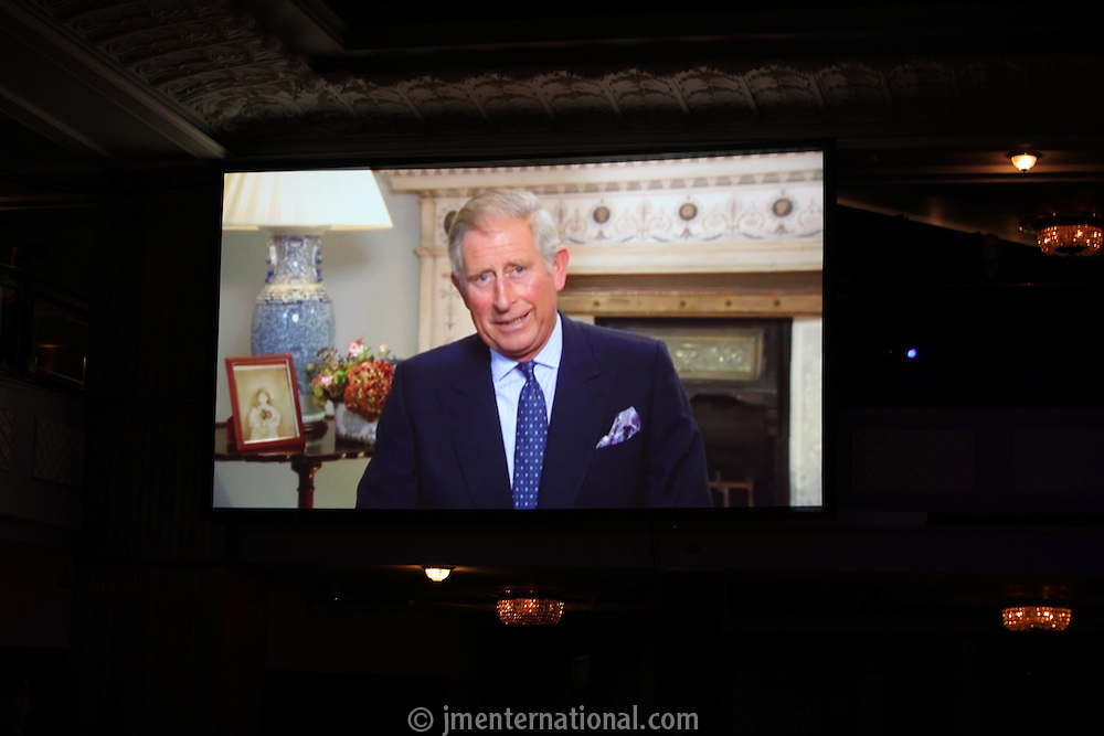 The Prince of Wales, the 2011 MITs Award. Held at the Grosvenor Hotel London in aid of Nordoff Robbins and the BRIT School. Monday, Nov.7, 2011