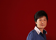 """Park Geun-hye attends a national convention of then ruling Saenuri Party in Goyang, north of Seoul, August 20, 2012. Park defeated challengers from her conservative and right-wing party and was nominated candidate for the Dec. 19, 2012 presidential election. Park is the daughter of former military dictator Park Chung-hee who took power in a military coup in 1961 and ruled until his assassination in 1979. The late President Park was a lieutenant in the Japanese army during Japan's colonial rule over Korea and has been widely criticized when he imprisoned pro-democracy activists during his 18-year-seizure of power for """"modernisation"""" of the country, according to local media. Photo by Lee Jae-Won (SOUTH KOREA) www.leejaewonpix.com"""