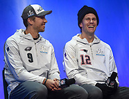 Tom Brady and Nick Foles - SuperBowl Opening Night - 29 January 2018