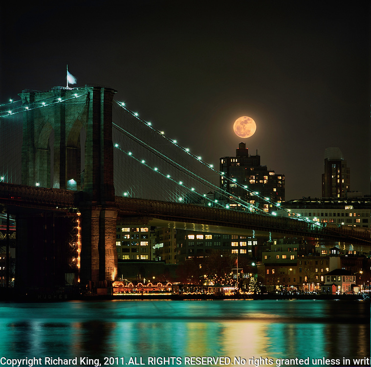 Full Moon over Manhattan New York