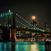 Full Moon over Manhattan New York