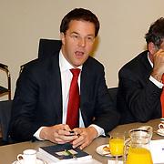 NLD/Den Haag/20070412 - Visit of Mr. Hans-Gert Pöttering, president of the European parliament to The Hague, meeting with the Presidents of the 4 leading political groups, Mr. Mark Rutte..NLD/Den Haag/20070412 - President Europees Parlement Hans-Gert Pöttering bezoekt Den Haag, ontmoeting met de 4 politiieke leiders van de grootste partijen.  ** foto + verplichte naamsvermelding Brunopress/Edwin Janssen  **