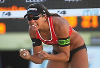 Volleyball Sandvolleyball Beachvolleyball<br />Swatch FIVB World Tour Conoco Phillips Grand Slam<br />Stavanger 270608<br />Foto: Sigbjørn Andreas Hofsmo, Digitalsport<br /><br />Nila Haakedal Hakedal Håkedal -