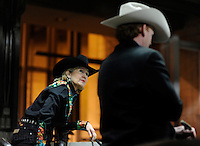 DALLAS, TX - FEBRUARY 07:  The Senator sits atop her horse before opening ceremonies at the Fort Worth Stock Show & Rodeo... Senior Senator and candidate for Texas governor, Kay Bailey Hutchison, campaigns through Texas in a close race against Governor Rick Perry for the republican nomination, February 07, 2010 in Dallas, Texas. (Photo by Melina Mara/The Washington Post)....