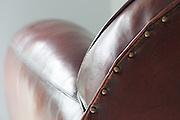Club sofa - leather detail