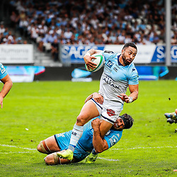 Michael RURU of Bayonne during the Top 14 match between Bayonne and Montpellier on October 12, 2019 in Bayonne, France. (Photo by JF Sanchez/Icon Sport) - Michael RURU - Stade Jean Dauger - Bayonne (France)
