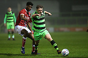 Forest Green Rovers Kieron Proctor(11) runs forward during the Gloucestershire Senior Cup match between Forest Green Rovers and U23 Bristol City at the New Lawn, Forest Green, United Kingdom on 9 April 2018. Picture by Shane Healey.