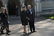 SIR DAVID TANG; LADY LUCY TANG, Service of thanksgiving for  Lord Snowdon, St. Margaret's Westminster. London. 7 April 2017