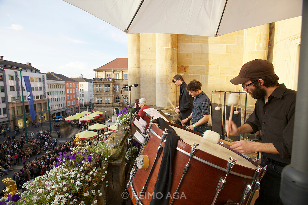 dOCUMENTA (13) in Kassel, Germany..Press Reception at City Hall..Drummers.