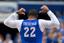 Former Wildcat and current Tennessee Titan Wesley Woodyard was acknowledged during the game and showed support of his former Bronco teammate Danny Trevathan who is playing in Super Bowl 50.<br /> <br /> The University of Kentucky hosted the University of Florida, Saturday, Feb. 06, 2016 at Rupp Arena in Lexington .