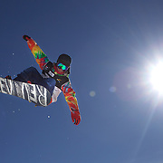 Ryo Aono, Japan, in action during the Men's Half Pipe Finals in the LG Snowboard FIS World Cup, during the Winter Games at Cardrona, Wanaka, New Zealand, 28th August 2011. Photo Tim Clayton...