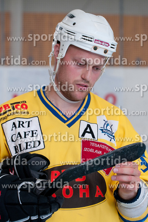 Ziga Svete of Troha Pub Bled at final match of IZS Masters 2011 inline hockey between Troha Pub Bled and HK Prevoje, on June 4, 2011 in Sportni park, Horjul, Slovenia. (Photo by Matic Klansek Velej / Sportida)