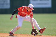 Lafayette High's Josh Keel fields the ball vs. Horn Lake in Oxford, Miss. on Tuesday, March 12, 2013.