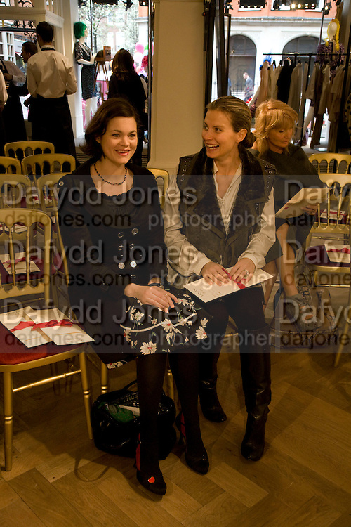 JASMINE GUINNESS; JANE GOTTSCHALK, The Launch of the Lanvin store on Mount St. Presentation and cocktails.  London. 26 March 2009