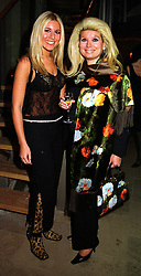Left to right, society party girl MISS BEVERLEY BLOOM and her mother MRS RIKI BLOOM, at a party in London on 8th November 1999.MYS 16