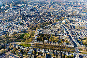 Nederland, Utrecht, Utrecht, 07-02-2018; Oudwijk met Maliebaan overgaand in Zocherpark met Maliesingel.<br /> Inner city Utrecht w park.<br /> luchtfoto (toeslag op standard tarieven);<br /> aerial photo (additional fee required);<br /> copyright foto/photo Siebe Swart