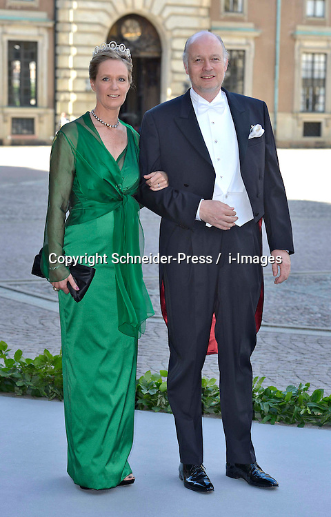 Desiree von Bohlen and Halbach and Eckbert von Bohlen attend the wedding of Princess Madeleine of Sweden and Christopher O'Neill hosted by King Carl Gustaf XIV and Queen Silvia at The Royal Palace in Stockholm, Sweden, June 8, 2013 . Photo by Schneider-Press / i-Images. .UK & USA ONLY