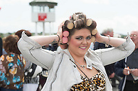 03/08/2014 Mairead Garett from  Galway at the Final day of the Galway Racing Summer Festival. Photo:Andrew Downes