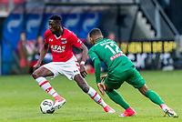 ALKMAAR - 01-04-2017, AZ - FC Groningen, AFAS Stadion, 0-0, AZ speler Derrick Luckassen, FC Groningen speler Juninho Bacuna