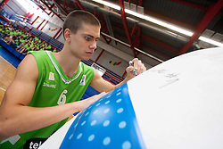 Jaka Brodnik during Open day of Slovenian U20 National basketball team before the European Chmpionship in Slovenia, on July 9, 2012 in Domzale, Slovenia.  (Photo by Vid Ponikvar / Sportida.com)
