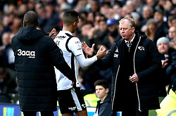 Thomas Ince of Derby County is congratulated by Derby County manager Steve McClaren - Mandatory by-line: Robbie Stephenson/JMP - 11/12/2016 - FOOTBALL - iPro Stadium - Derby, England - Derby County v Nottingham Forest - Sky Bet Championship