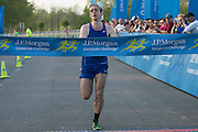 Matthew Pierce wins the Corporate Challenge in a time of 18:07 on the campus of RIT on Tuesday, May 24, 2016.