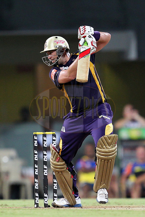 Jacques Kallis during match 41 of the the Indian Premier League ( IPL) 2012  between The Chennai Superkings and the Kolkata Knight Riders held at the M. A. Chidambaram Stadium, Chennai on the 30th April 2012..Photo by Prashant Bhoot/IPL/SPORTZPICS