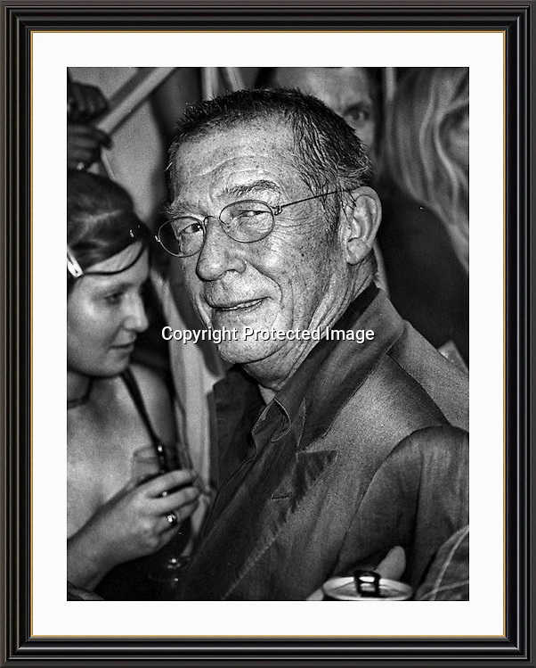 John Hurt evening at Maison Bertaux  Soho London<br /> Museum-quality Archival signed Framed Print A3 (Limited Edition of 25)