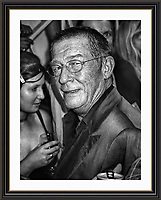 John Hurt evening at Maison Bertaux  Soho London<br /> Museum-quality Archival signed Framed Print A3