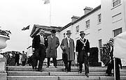 27/06/1963 - John F. Kennedy attends a garden party at Áras an Uachtaráin. at the party were (l-r): James Gallagher T.D., Sligo; Cahir Healy M.P.; Joseph Stewart, leader of Nationalist opposition at Stormont and Alderman James Gannon, Mayor of Sligo.
