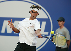 MONTE-CARLO, MONACO - Wednesday, April 16, 2003: Rafael Nadal (Spain) in action during the 2nd Round of the Tennis Masters Monte-Carlo. (Pic by David Rawcliffe/Propaganda)