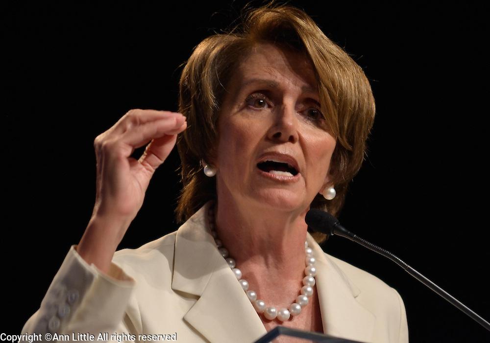 Rep. Nancy Pelosi (D-CA) speaks to the Congressional Black Caucus in Washington, DC.