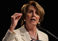 Rep. Nancy Pelosi (D-CA) speaks to the Congressional Black Caucus in Washington, DC.