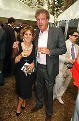 MR & MRS JEREMY CLARKSON at theThe Summer Ball in Berkeley Square , Londin W1 in aid of the Prince's Trust on 6th July 2006.<br />