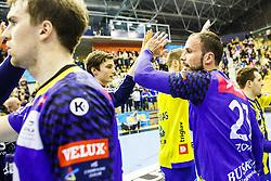 Zorman Uros #23 of KS Vive Tauron Keilce during handball match between RK Celje Pivovarna Lasko (SLO) and KS Viive Tauron Kielce (POL) in Group phase of EHF Men's Champions League 2016/17, on February 19, 2017 in Arena Zlatorog, Celje, Slovenia. Photo by Grega Valancic