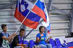 24-08-2017 NED: World Qualifications Belgium - Slovenia, Rotterdam<br /> Support Slovenia, slovenie publiek<br /> Photo by Ronald Hoogendoorn / Sportida