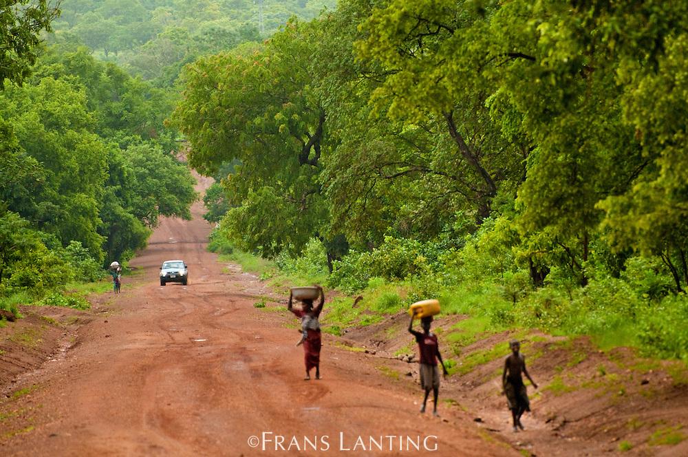 Dirt road near Larabanga, Ghana